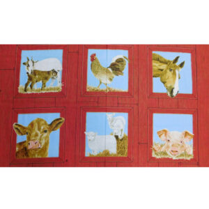 Quilting Patchwork Sewing Fabric SUNNYBROOK FARM ANIMAL Panel 60x110cm New