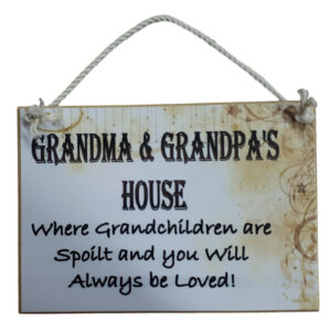 Country Printed Wooden Sign Grandma Grandpa Personalize Plaque New