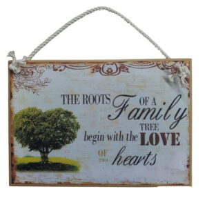 Country Printed Quality Wooden Sign Roots Of A Family Plaque New