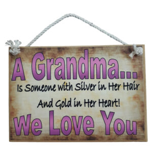 Country Printed Quality Wooden Sign Grandmas Kitchen Personalized New