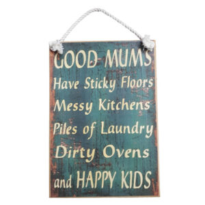 Country Printed Quality Wooden Sign GOOD MUMS Funny Plaque New
