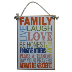 Country Printed Quality Wooden Sign FAMILY LOVE Inspiring Plaque New