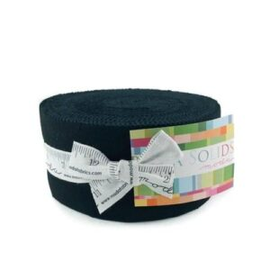 Quilting Patchwork Fabric Moda Jelly Roll BELLA BLACK Quilt Strips 2.5inch New