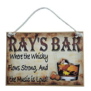 Country Printed Quality Wooden Sign Whiskey Bar Funny Inspire Plaque Personalize New