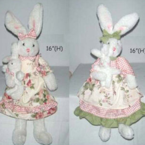 Rabbits fabric dolls (B)