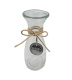 Glass Bottle Vase with metal Tag (H5)