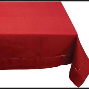 French Country Table Cloth HEMSTITCH Tablecloth Red 150X300cm New