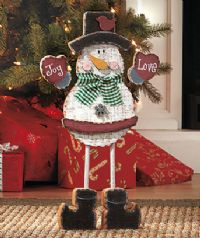 Snowman Holiday Standing Figurine (K7)