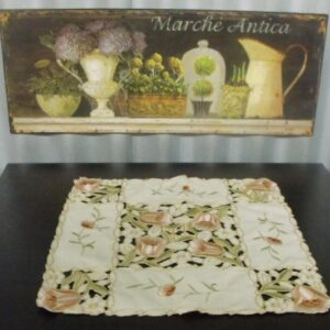 French Country Doiley - Tulips- Doily Lace Placemat, Runner for Table or Duchess (Copy)