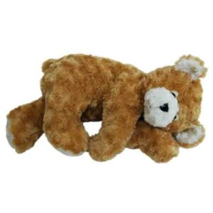 Cuddly Plush Golden SLEEPING TEDDY BEAR 38cm Laying Down New