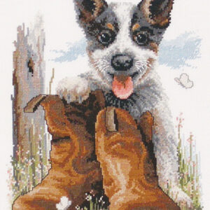 Country Threads Cross Stitch Kit - Bluey's Boots