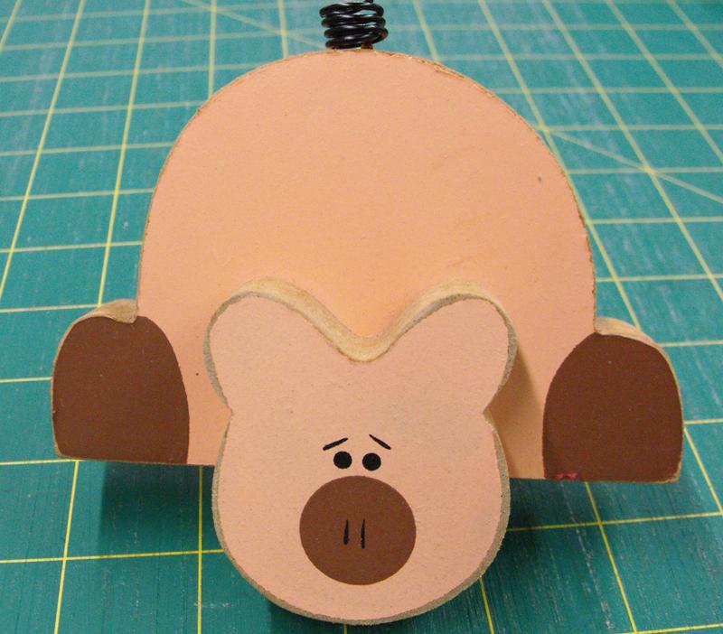 Pig Wooden Shelf Sitter wooden Ornament