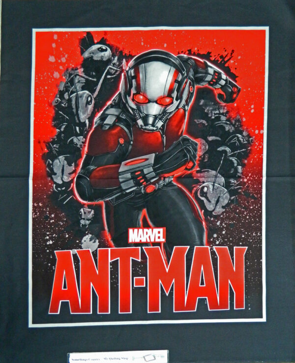 Patchwork Quilting Sewing Fabric- Marvel Ant Man Large- Quilt Panel 90x110cm New