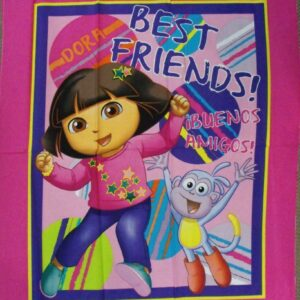 Patchwork Quilting Sewing Fabric DORA THE EXPLORER Panel 90x110cm New