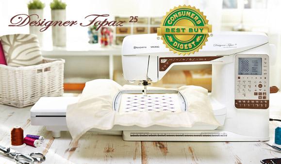 Husqvarna Viking Topaz 25 Sewing Quilting Embroidery Machine New