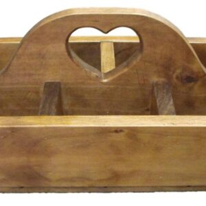 French Country Inspired Country Handmade Wooden BBQ Caddy Holder New