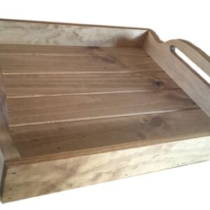 Handmade Wooden BBQ Tray, Dining Tray, Breakfast in Bed Tray Timber New