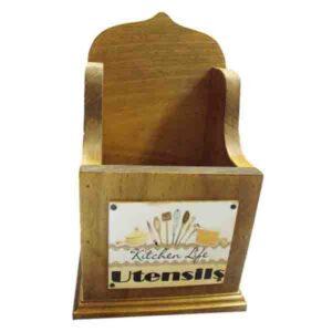 Handmade Wooden Timber Kitchen Gadgets and Utensils Holder New