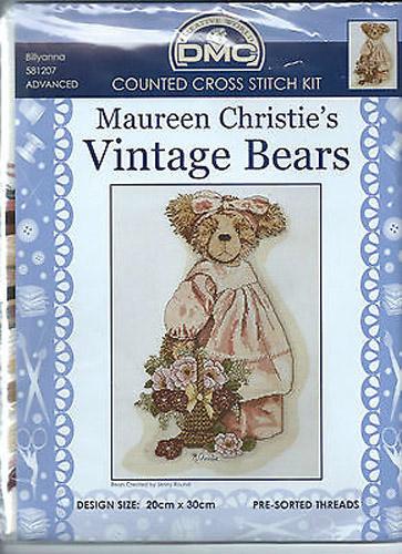 Country Threads Cross Stitch Kit - Vintage Bears Billyanna