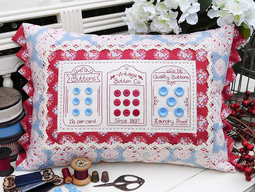 Sally Giblin Rivendale Collection VINTAGE BUTTONS Sewing Quilting Pattern New