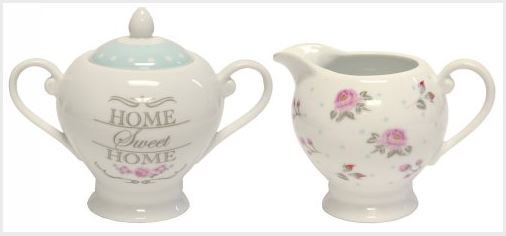 French Country Collectable Kitchenware Sweet Rose Sugar & Milk Jug New