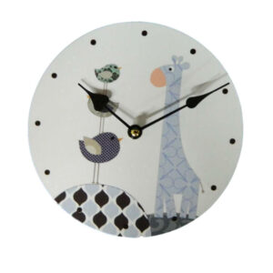 Clock French Country Vintage Inspired Wall Clocks Time BLUE GIRAFFE Small 29cm