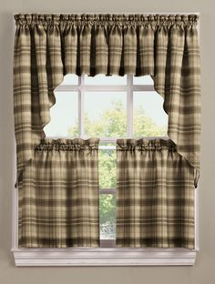 French Country New Curtain Ruffled TIME WORN Kitchen Window SWAG NEW