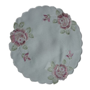 French Country Doiley FLORENCE Doily Embroidered Table or Duchess 20cm New