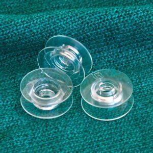 Husqvarna Viking Clear Set of 10 Sewing Machine Bobbins NEW
