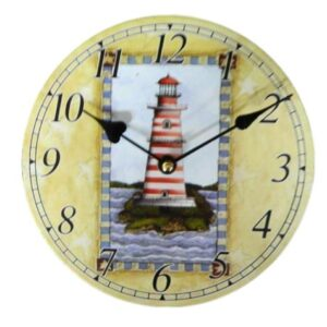 Clock French Country Vintage Inspired Wall Clocks Time LIGHTHOUSE 2 Small 19cm