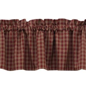 French Country New Curtain Ruffled STURBRIDGE WINE Kitchen Window Valance NEW