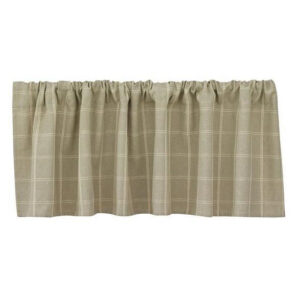 French CountryCurtain Ruffled GRAYSON LINED Kitchen Window VALANCE New