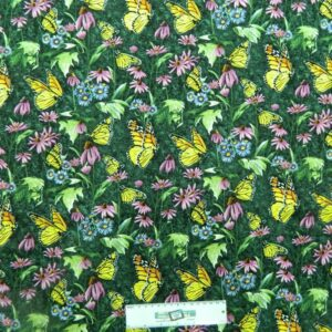 Patchwork Quilting Fabric BUTTERFLY GARDEN Sewing Material FQ 50X55cm