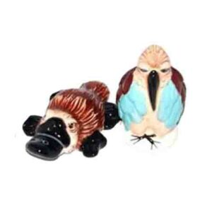 Collectable Novelty Salt and Pepper Set PLATYPUS & KOOKABURRA Kitchen FREEPOST New