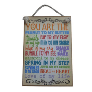 Country Printed Quality Wooden Sign YOU ARE MY PEANUT Funny Inspiring Plaque New