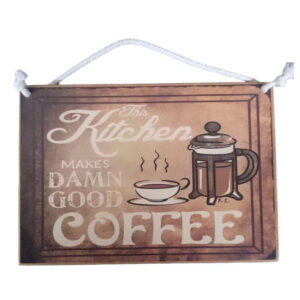 Country Printed Quality Wooden Sign KITCHEN MAKES GOOD COFFEE New Plaque Sayings