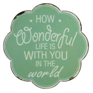 Country Printed Quality Tin Sign WONDERFUL LIFE WITH YOU Inspiring Plaque New