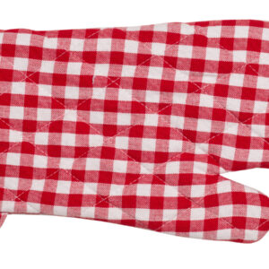Gingham Check Kitchen Cooking Oven Gloves Set of 2 RED Pot Mitts New