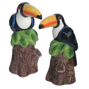 Collectable Novelty Salt & Pepper Shakers Set TOUCAN BIRDS Set FREEPOST NEW