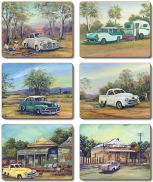 Country Inspired Kitchen OLD HOLDENS Cinnamon Cork backed Placemats or Coasters Set 6 NEW