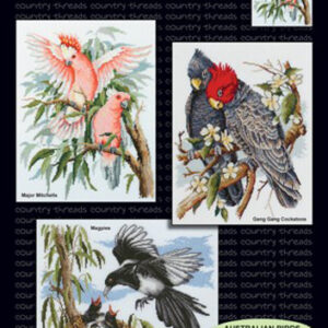 Country Threads X stitch, Counted Cross Stitch Pattern Australian Birds NEW
