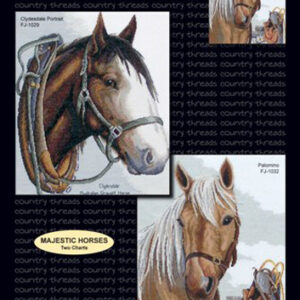 Country Threads X stitch, Counted Cross Stitch Pattern Majestic Horses NEW