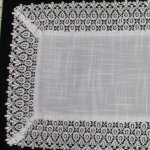 French Country Chic Shabby Doiley HANNAH White Lace Doily Placemat Duchess Table Topper Runner New