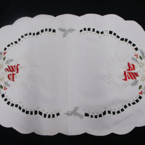 French Country Chic Shabby Doiley CHRISTMAS NOEL Lace Doily Runner Cutout Embroidery Table New