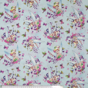 Quilting Patchwork Cotton Sewing Fabric TINKERBELL DISNEY 50x55cm FQ NEW Material