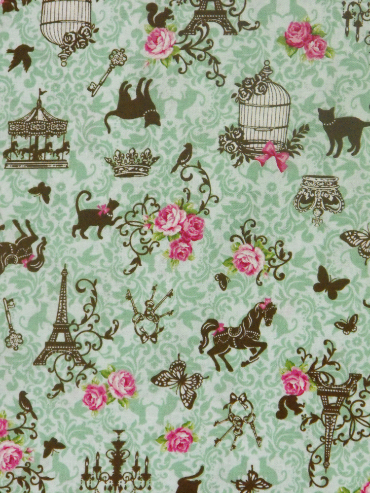 Quilting Patchwork Cotton Sewing Fabric Paris Filigree