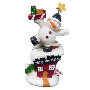 Christmas Snowman with Festive Presents Decorative Ornament New