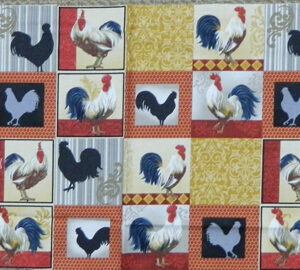 Quilting Patchwork Fabric Sewing Cotton ROOSTER INN Panel 30x110cm New www.somethingscountry