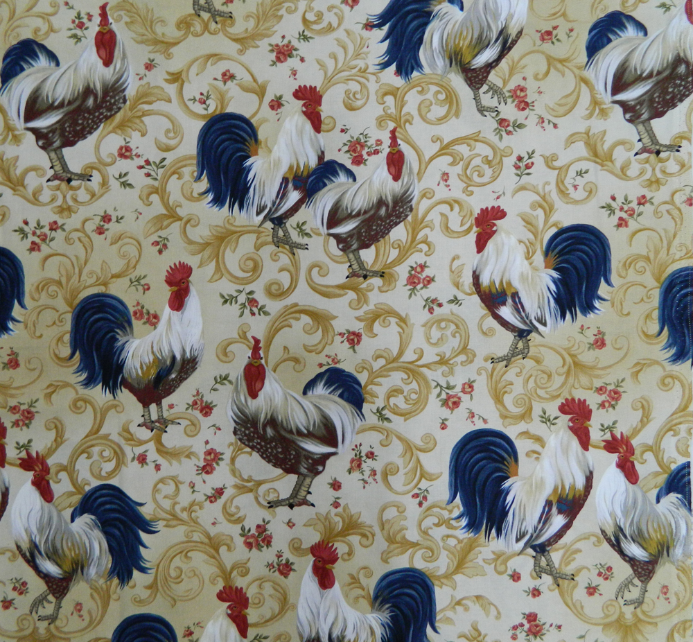 Quilting Patchwork Cotton Sewing Fabric Country ROOSTER INN 50 x 55cm FQ NEW www.somethingscountry.com