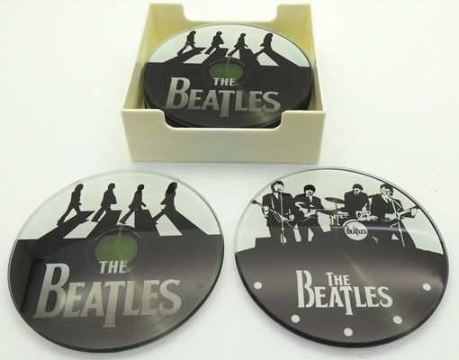 Beatles Glass Coasters